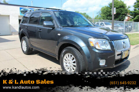 2009 Mercury Mariner for sale at K & L Auto Sales in Saint Paul MN