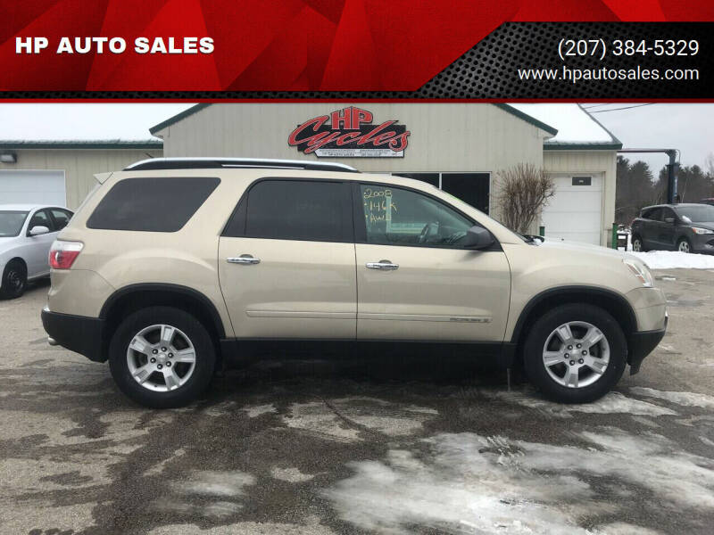 2008 GMC Acadia for sale at HP AUTO SALES in Berwick ME