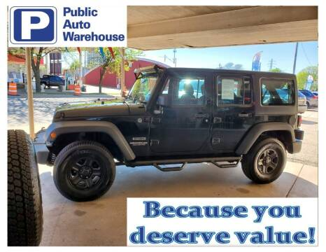 2012 Jeep Wrangler Unlimited for sale at Public Auto Warehouse in Pekin IL