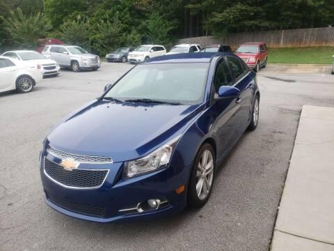 2012 Chevrolet Cruze for sale at Credit Cars LLC in Lawrenceville GA