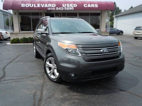 2015 Ford Explorer for sale at Boulevard Used Cars in Grand Haven MI