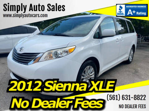 2012 Toyota Sienna for sale at Simply Auto Sales in Palm Beach Gardens FL