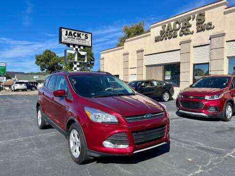 2016 Ford Escape for sale at JACK'S MOTOR COMPANY in Van Buren AR