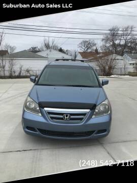 2007 Honda Odyssey for sale at Suburban Auto Sales LLC in Madison Heights MI