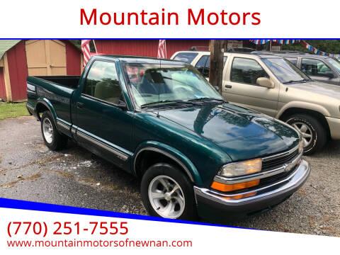 1998 Chevrolet S-10 for sale at Mountain Motors in Newnan GA