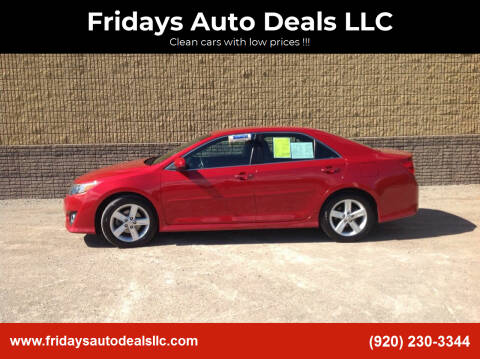 2013 Toyota Camry for sale at Fridays Auto Deals LLC in Oshkosh WI