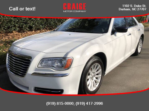 2012 Chrysler 300 for sale at CRAIGE MOTOR CO in Durham NC