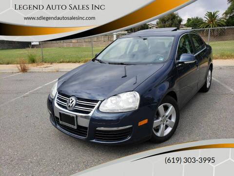 2009 Volkswagen Jetta for sale at Legend Auto Sales Inc in Lemon Grove CA