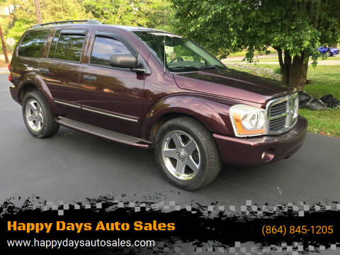 2005 Dodge Durango for sale at Happy Days Auto Sales in Piedmont SC