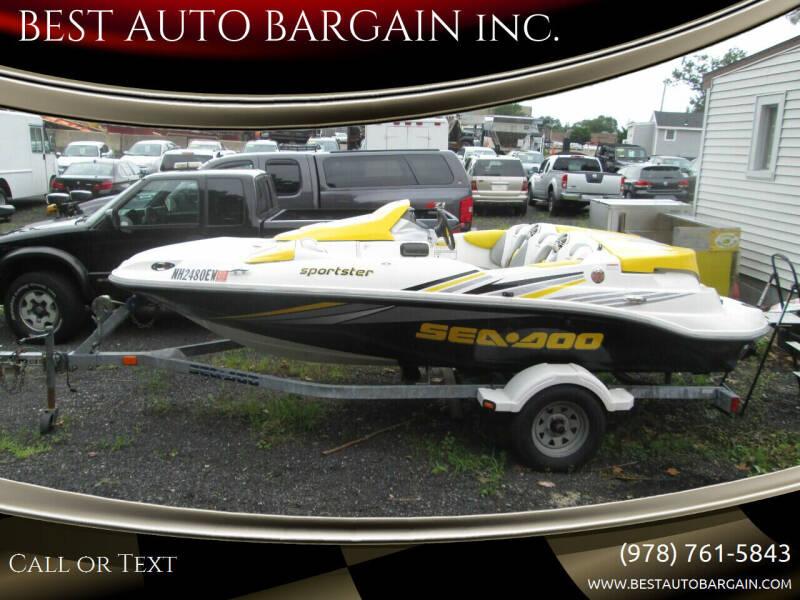 2006 Karavan   Sea Doo Sportster TRAILER-BOAT for sale at BEST AUTO BARGAIN inc. in Lowell MA
