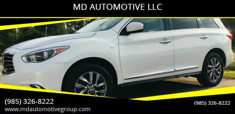 2014 Infiniti QX60 for sale at MD AUTOMOTIVE LLC in Slidell LA