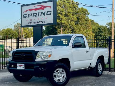 2008 Toyota Tacoma for sale at Spring Motors in Spring TX