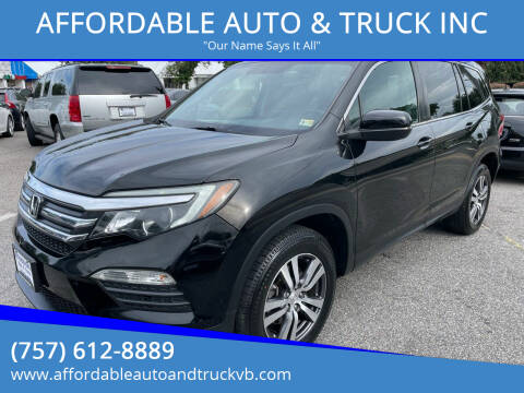 2016 Honda Pilot for sale at AFFORDABLE AUTO & TRUCK INC in Virginia Beach VA