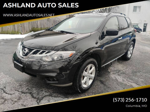 2012 Nissan Murano for sale at ASHLAND AUTO SALES in Columbia MO