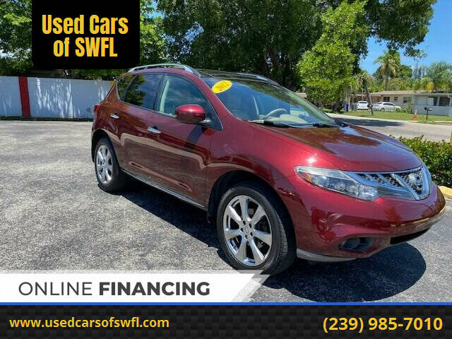 2012 Nissan Murano for sale at Used Cars of SWFL in Fort Myers FL