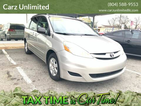 2007 Toyota Sienna for sale at Carz Unlimited in Richmond VA