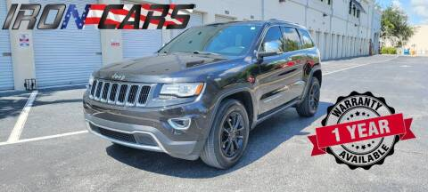 2014 Jeep Grand Cherokee for sale at IRON CARS in Hollywood FL