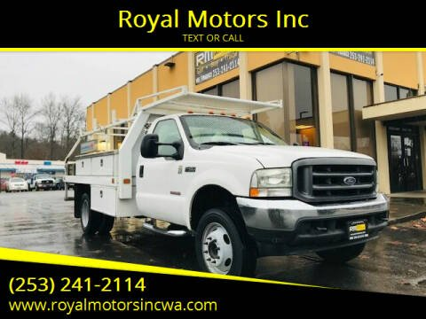 2004 Ford F-450 Super Duty for sale at Royal Motors Inc in Kent WA