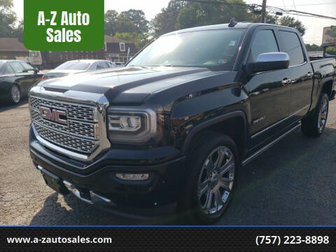 2018 GMC Sierra 1500 for sale at A-Z Auto Sales in Newport News VA