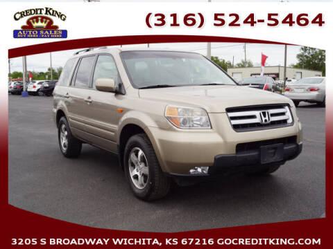 2007 Honda Pilot for sale at Credit King Auto Sales in Wichita KS