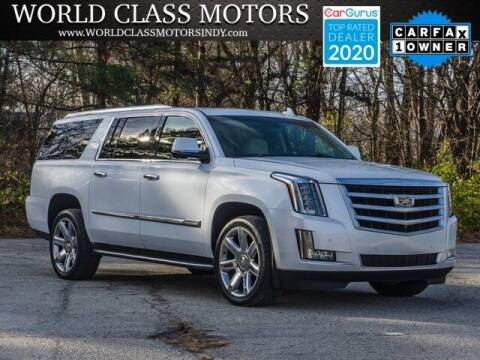 2016 Cadillac Escalade ESV for sale at World Class Motors LLC in Noblesville IN