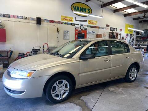 2004 Saturn Ion for sale at Vanns Auto Sales in Goldsboro NC