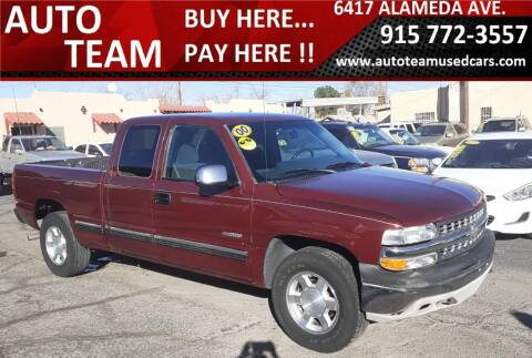 2000 Chevrolet Silverado 1500 for sale at AUTO TEAM in El Paso TX