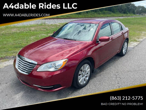 2013 Chrysler 200 for sale at A4dable Rides LLC in Haines City FL