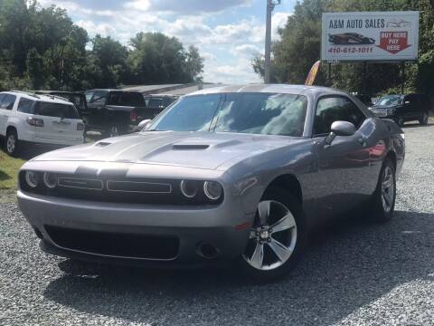 2016 Dodge Challenger for sale at A&M Auto Sales in Edgewood MD