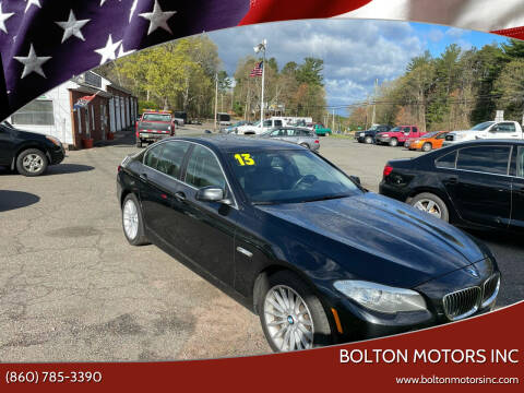 2013 BMW 5 Series for sale at BOLTON MOTORS INC in Bolton CT