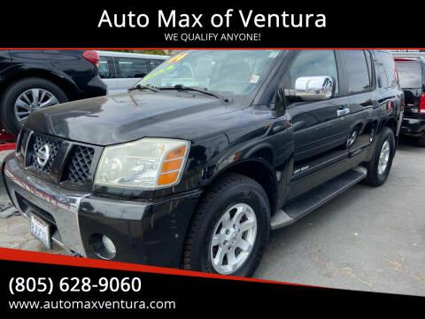 2004 Nissan Armada for sale at Auto Max of Ventura in Ventura CA