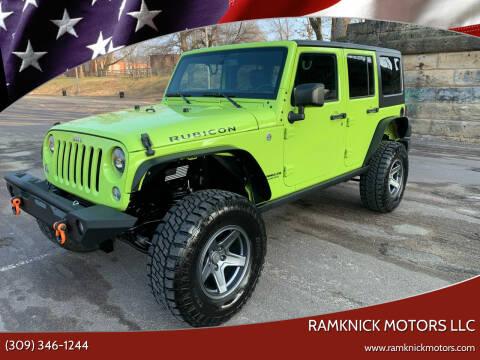 2016 Jeep Wrangler Unlimited for sale at RamKnick Motors LLC in Pekin IL