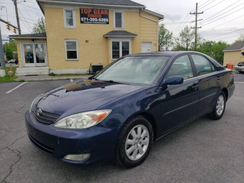 2004 Toyota Camry for sale at Top Gear Motors in Winchester VA