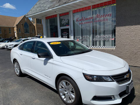 2017 Chevrolet Impala for sale at KUHLMAN MOTORS in Maquoketa IA