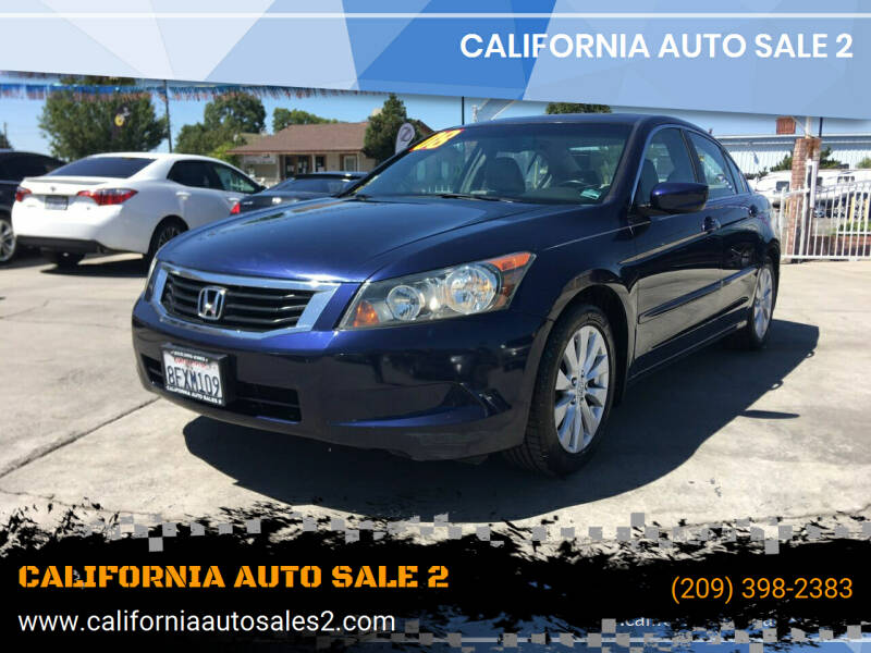 2008 Honda Accord for sale at CALIFORNIA AUTO SALE 2 in Livingston CA