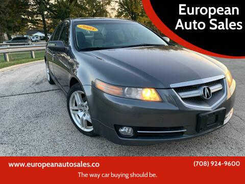 2008 Acura TL for sale at European Auto Sales in Bridgeview IL