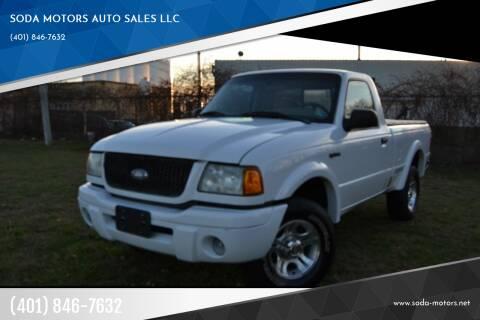 2002 Ford Ranger for sale at SODA MOTORS AUTO SALES LLC in Newport RI