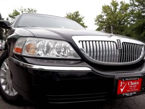 2005 Lincoln Town Car for sale at 1st Choice Auto Sales in Fairfax VA