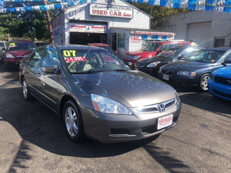 2007 Honda Accord for sale at Riverside Wholesalers 2 in Paterson NJ
