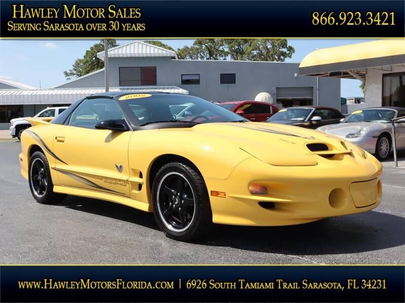 2002 Pontiac Firebird for sale at Hawley Motor Sales in Sarasota FL