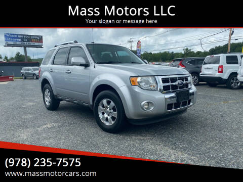 2010 Ford Escape for sale at Mass Motors LLC in Worcester MA