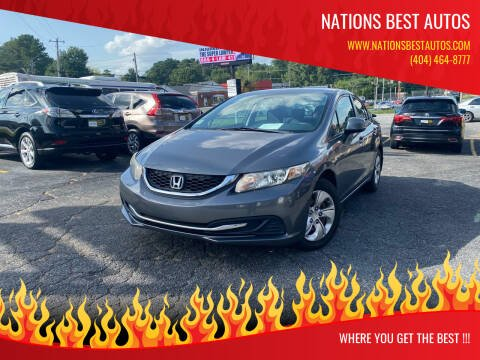 2013 Honda Civic for sale at Nations Best Autos in Decatur GA