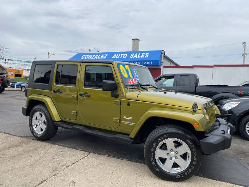 2007 Jeep Wrangler Unlimited for sale at Gonzalez Auto Sales in Joliet IL