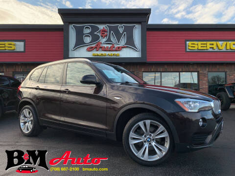 2015 BMW X3 for sale at B & M Auto Sales Inc. in Oak Forest IL
