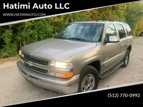 2003 Chevrolet Tahoe for sale at Hatimi Auto LLC in Buda TX