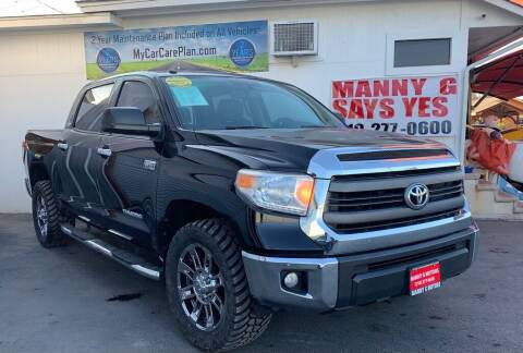 2015 Toyota Tundra for sale at Manny G Motors in San Antonio TX