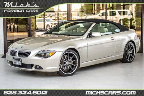 2005 BMW 6 Series for sale at Mich's Foreign Cars in Hickory NC