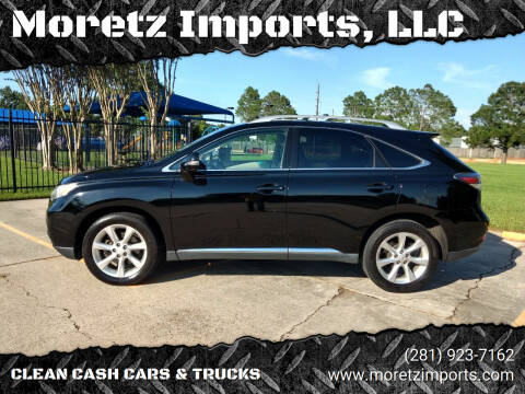 2010 Lexus RX 350 for sale at Moretz Imports, LLC in Spring TX