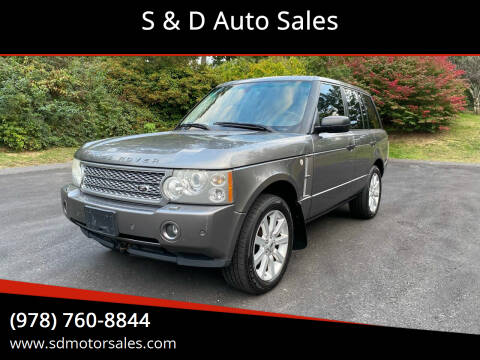 2008 Land Rover Range Rover for sale at S & D Auto Sales in Maynard MA