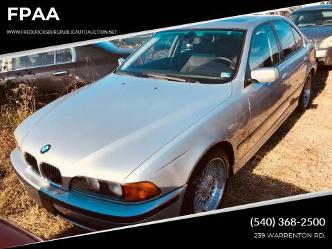 2000 BMW 5 Series for sale at FPAA in Fredericksburg VA